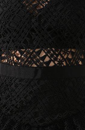 Женское кружевное платье-миди SELF-PORTRAIT черного цвета, арт. SP20-089 | Фото 5
