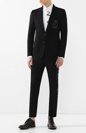 Мужской пиджак из вискозы DOLCE & GABBANA черного цвета, арт. G2MR5Z/FUGI2   Фото 2