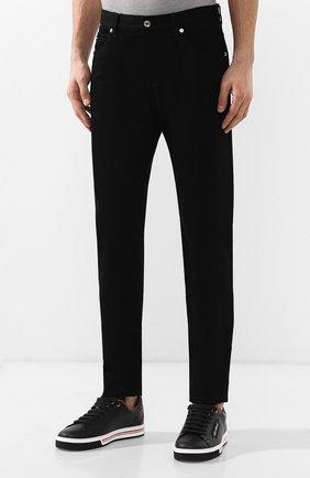 Джинсы прямого кроя Dolce & Gabbana черные | Фото №3