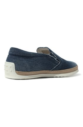 Мужские текстильные слипоны TOD'S синего цвета, арт. XXM0TV0K900JDL   Фото 5