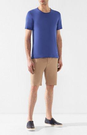 Мужские кожаные слипоны TOD'S темно-синего цвета, арт. XXM0TV0V530D9C | Фото 2