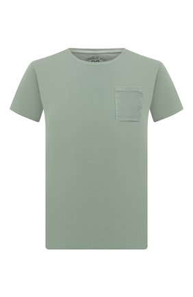 Мужская хлопковая футболка RRL зеленого цвета, арт. 782726136 | Фото 1