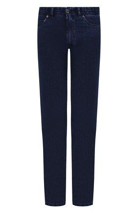 Мужские джинсы прямого кроя BRIONI темно-синего цвета, арт. SPL40L/P8D12/MERIBEL | Фото 1