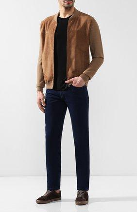 Мужские джинсы прямого кроя BRIONI темно-синего цвета, арт. SPL40L/P8D12/MERIBEL | Фото 2