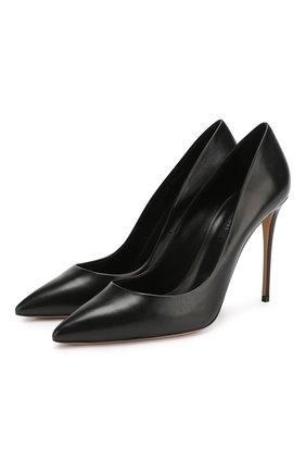 Женская кожаные туфли julia CASADEI черного цвета, арт. 1F121D100.DUSE000 | Фото 1