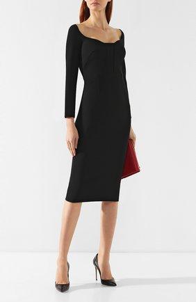 Женская кожаные туфли julia CASADEI черного цвета, арт. 1F121D100.DUSE000 | Фото 2