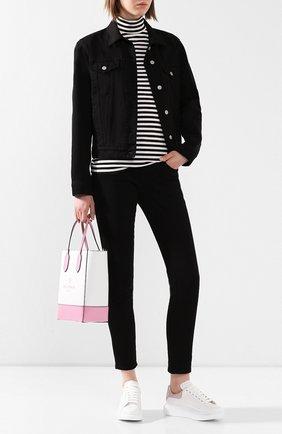 Женские кожаные кеды ALEXANDER MCQUEEN светло-розового цвета, арт. 553770/WHGP7 | Фото 2 (Материал внутренний: Натуральная кожа; Подошва: Платформа; Статус проверки: Проверена категория)