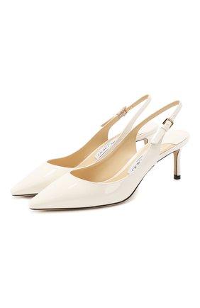 Женские лаковые туфли erin 60 JIMMY CHOO белого цвета, арт. ERIN 60/PAT | Фото 1