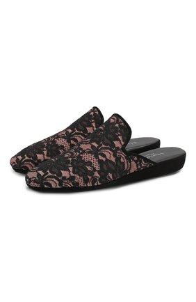 Домашние кружевные туфли | Фото №1