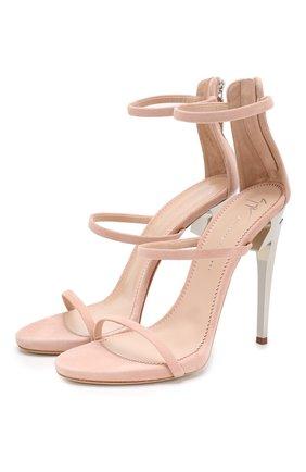 Замшевые босоножки G-heel | Фото №1