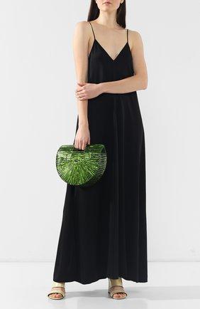 Женская сумка ark small CULT GAIA зеленого цвета, арт. 20003AC GRN   Фото 2 (Статус проверки: Проверена категория; Сумки-технические: Сумки top-handle; Материал: Текстиль; Размер: small)