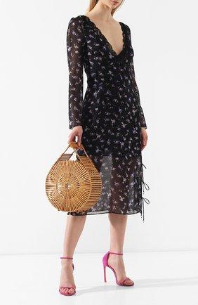 Женская сумка zaha  CULT GAIA светло-коричневого цвета, арт. 20029WDN TAN   Фото 2 (Сумки-технические: Сумки top-handle; Статус проверки: Проверено, Проверена категория; Материал: Растительное волокно; Размер: medium)