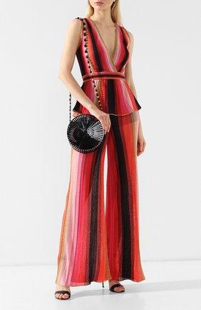 Женская сумка luna  CULT GAIA черного цвета, арт. 23001AC BLK   Фото 2 (Материал: Текстиль; Ремень/цепочка: На ремешке; Размер: mini; Статус проверки: Проверена категория; Сумки-технические: Сумки через плечо)