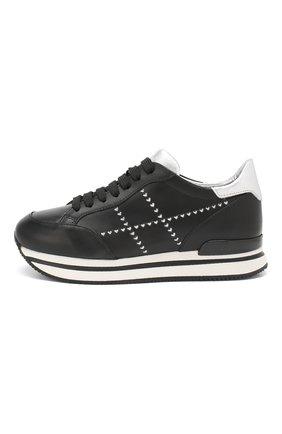 Кожаные кроссовки Hogan черные   Фото №3