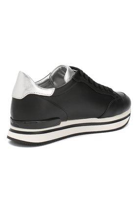 Кожаные кроссовки Hogan черные   Фото №4