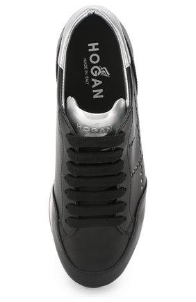 Кожаные кроссовки Hogan черные   Фото №5