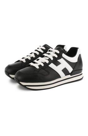 Кожаные кроссовки Hogan черные | Фото №1
