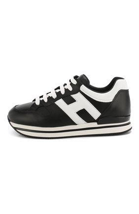 Кожаные кроссовки Hogan черные | Фото №3