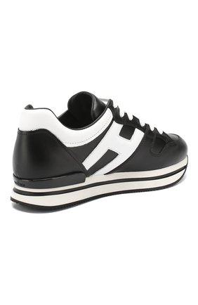 Кожаные кроссовки Hogan черные | Фото №4