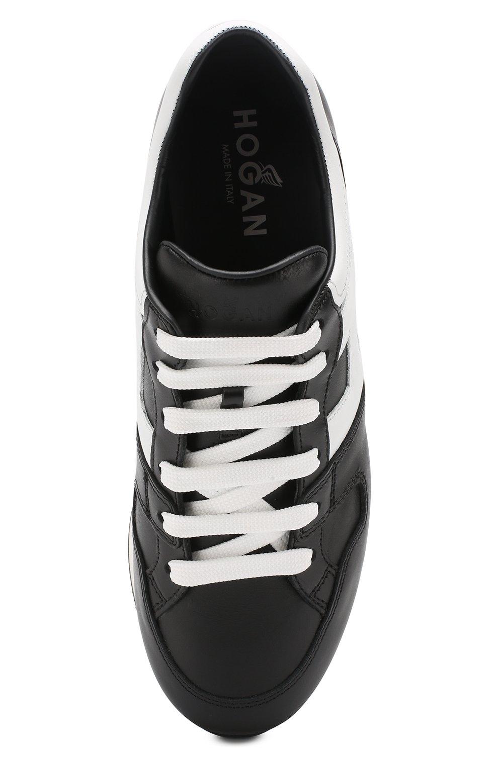 Кожаные кроссовки Hogan черные | Фото №5