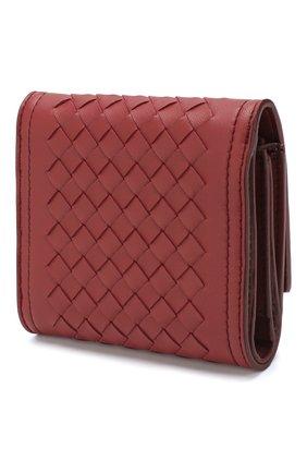 Кожаное портмоне Bottega Veneta бордового цвета | Фото №2