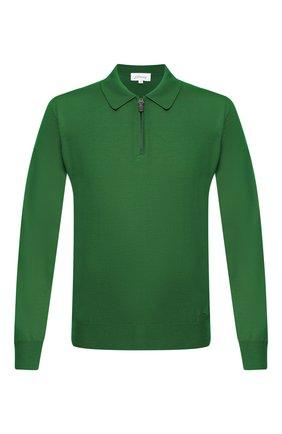 Мужское шерстяное поло BRIONI зеленого цвета, арт. UMS10L/0ZK18 | Фото 1