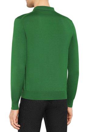Мужское шерстяное поло BRIONI зеленого цвета, арт. UMS10L/0ZK18 | Фото 4