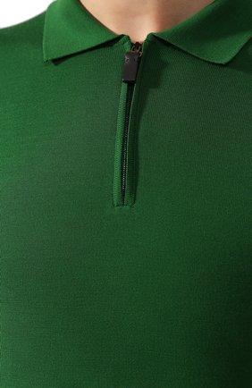 Мужское шерстяное поло BRIONI зеленого цвета, арт. UMS10L/0ZK18 | Фото 5