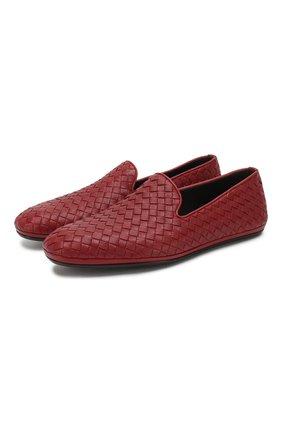 Мужские кожаные слиперы fiandra BOTTEGA VENETA бордового цвета, арт. 324658/VA2Y0 | Фото 1