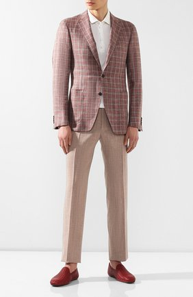 Мужские кожаные слиперы fiandra BOTTEGA VENETA бордового цвета, арт. 324658/VA2Y0 | Фото 2