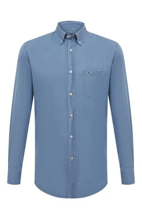 Мужская хлопковая рубашка PAUL&SHARK голубого цвета, арт. C0P3002/C00 | Фото 1