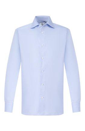 Мужская хлопковая сорочка LUIGI BORRELLI голубого цвета, арт. EV08/LUCIAN0/TS10602 | Фото 1