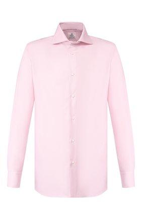 Мужская хлопковая сорочка LUIGI BORRELLI розового цвета, арт. EV08/ARCHILLE/TS10701 | Фото 1