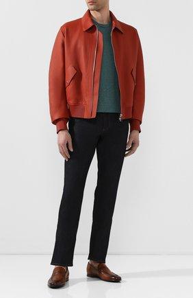 Мужские кожаные лоферы BARRETT светло-коричневого цвета, арт. 191U060.7/C0RSAR0 | Фото 2