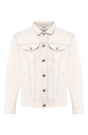 Мужская джинсовая куртка BRUNELLO CUCINELLI белого цвета, арт. M0Y166845 | Фото 1