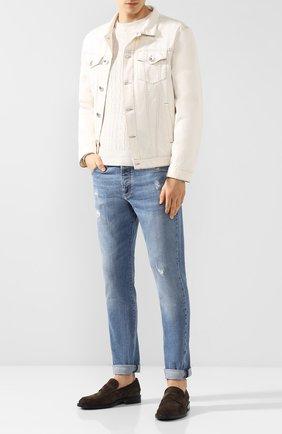 Мужская джинсовая куртка BRUNELLO CUCINELLI белого цвета, арт. M0Y166845 | Фото 2