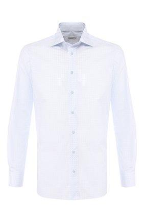 Мужская хлопковая рубашка с воротником кент ZILLI голубого цвета, арт. MFR-13056-MERCU/RZ01 | Фото 1