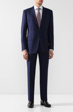 Мужская хлопковая рубашка с воротником кент ZILLI голубого цвета, арт. MFR-13056-MERCU/RZ01 | Фото 2