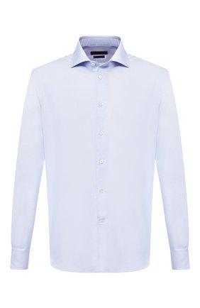 Мужская хлопковая рубашка с воротником кент CORNELIANI голубого цвета, арт. 83P100-9111264/00 | Фото 1