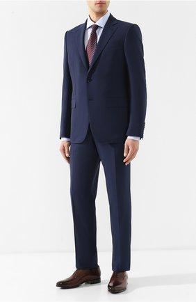Мужская хлопковая рубашка с воротником кент CORNELIANI голубого цвета, арт. 83P100-9111264/00 | Фото 2