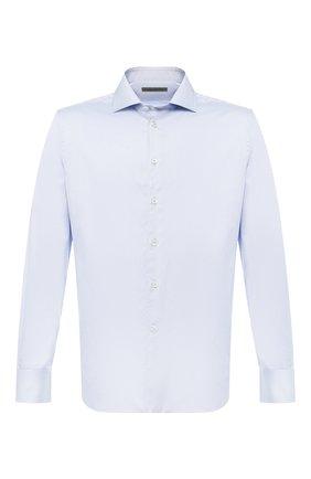 Мужская хлопковая рубашка с воротником кент CORNELIANI голубого цвета, арт. 83P100-9111204/00 | Фото 1
