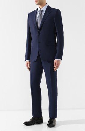 Мужская хлопковая рубашка с воротником кент CORNELIANI голубого цвета, арт. 83P100-9111204/00 | Фото 2