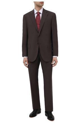 Мужской шерстяной костюм CORNELIANI темно-коричневого цвета, арт. 837268-9114135/92 Q1 | Фото 1