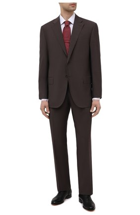 Мужской шерстяной костюм CORNELIANI темно-коричневого цвета, арт. 837268-9114135/92 Q1   Фото 1