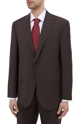 Мужской шерстяной костюм CORNELIANI темно-коричневого цвета, арт. 837268-9114135/92 Q1   Фото 2