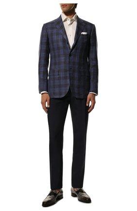 Мужские кожаные лоферы TOM FORD темно-серого цвета, арт. J1183T-BET | Фото 2