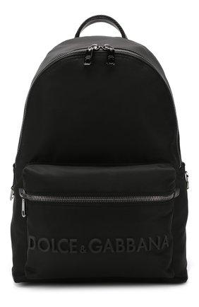 Мужской текстильный рюкзак street DOLCE & GABBANA черного цвета, арт. BM1607/AZ675 | Фото 1