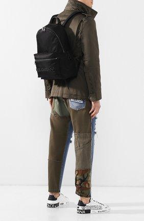 Мужской текстильный рюкзак street DOLCE & GABBANA черного цвета, арт. BM1607/AZ675 | Фото 2