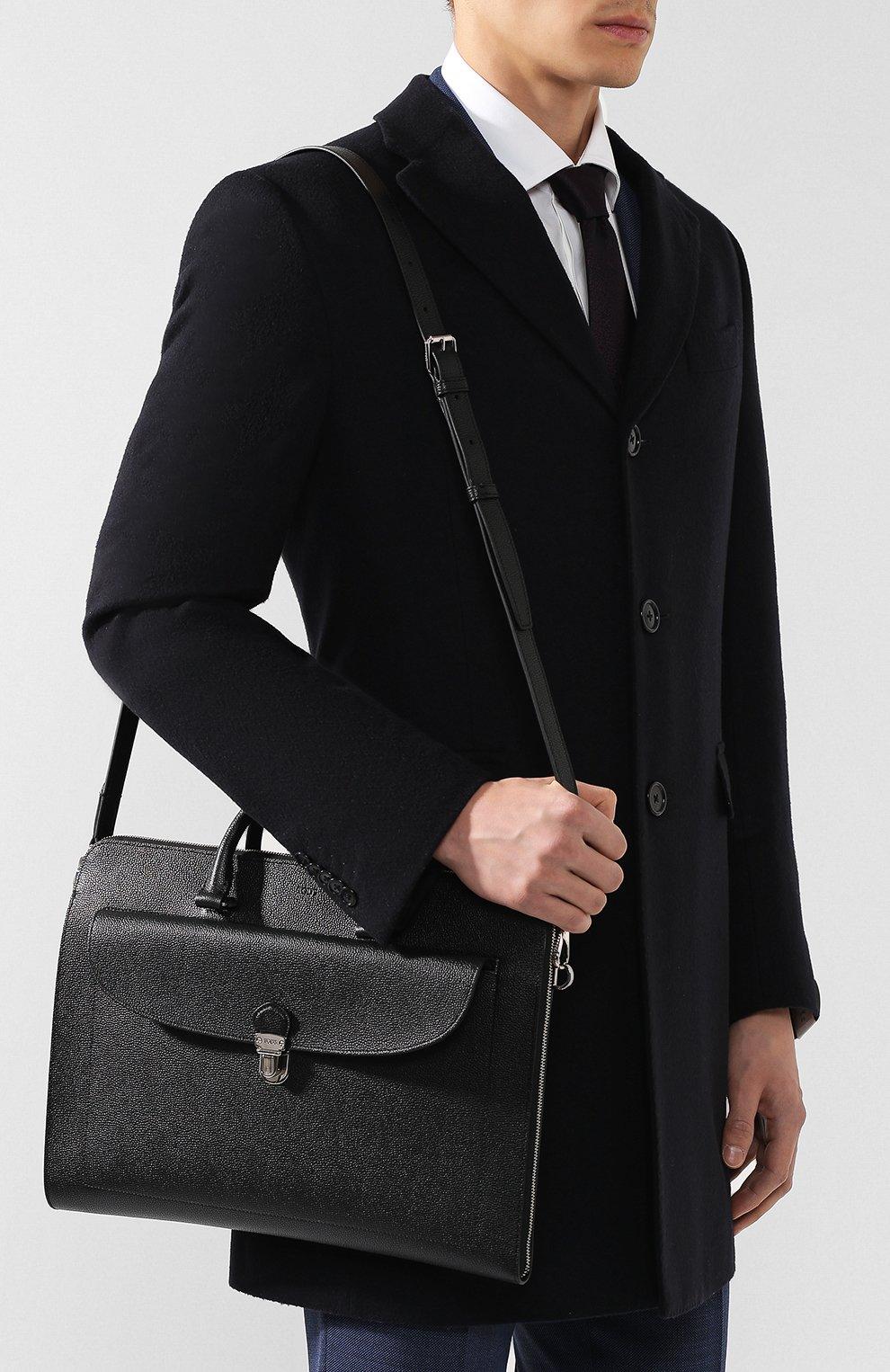 Кожаный портфель | Фото №5