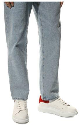 Мужские кожаные кеды ALEXANDER MCQUEEN белого цвета, арт. 553680/WHGP7 | Фото 2